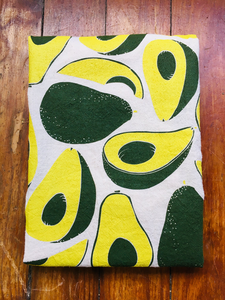 flour sack tea towel. avocado