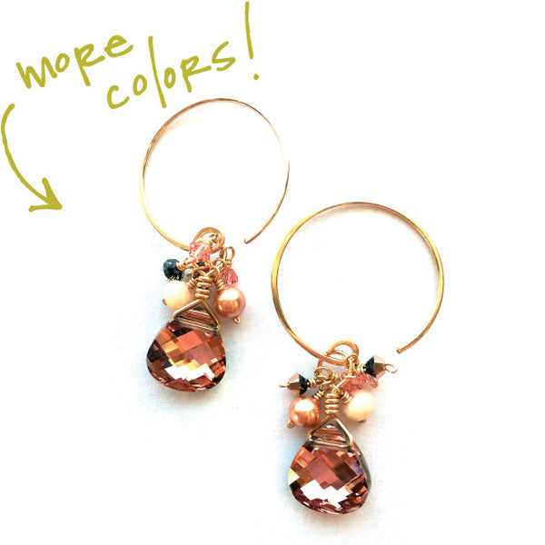 earrings . MINI cluster swarovskis