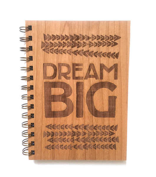 "journal . wooden ""dream big"""