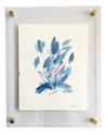 Susan LaConti . Abstract Botanical (BLUE) 8x10