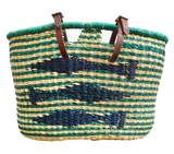 handwoven bike basket