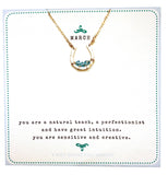 necklace . mini birthstones