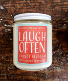 candle . soy wax . orange blossom