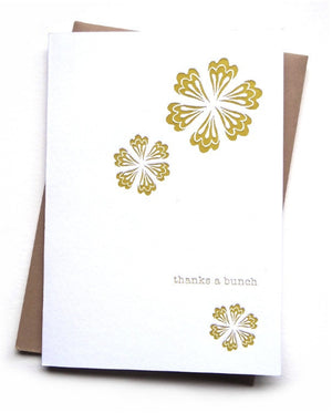letterpress card . paper flower