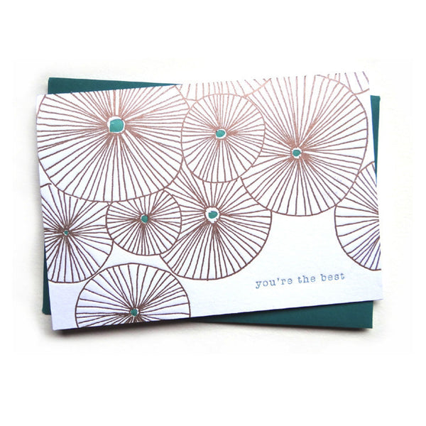 letterpress card . urchin