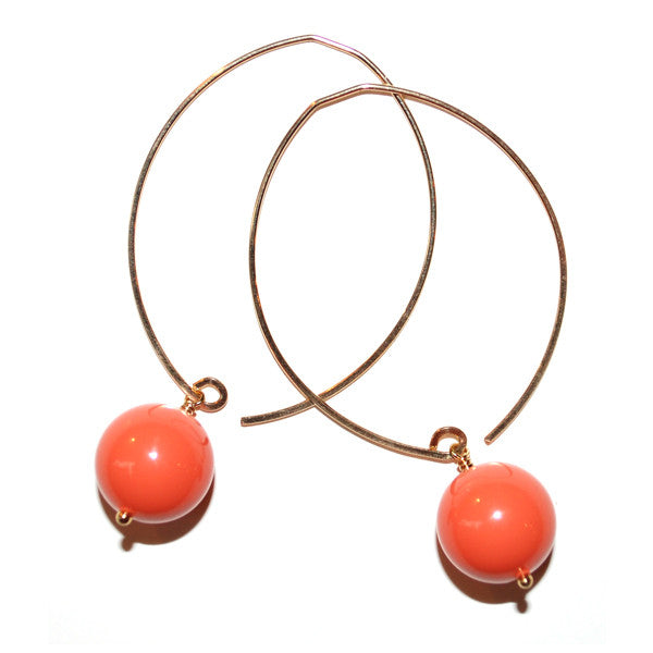 limited edition . earring . coral baubles