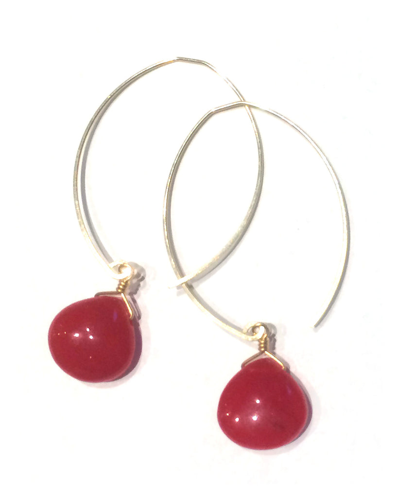 limited edition . earring . cherry jade drops