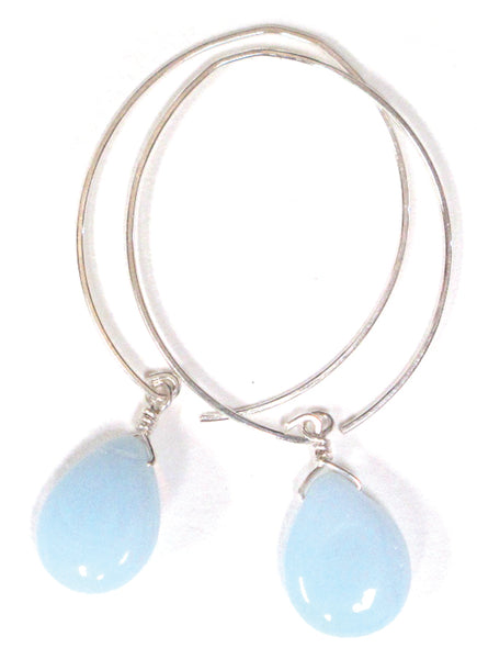 limited edition . earring . opalite teardrops