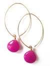 sale .smooth colored jade teardrop earrings