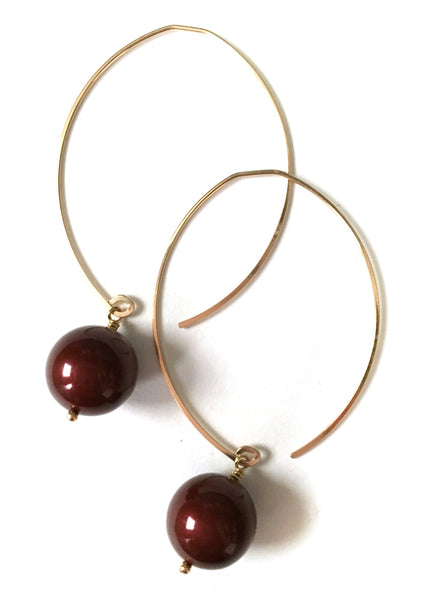 limited edition . earring . wine baubles