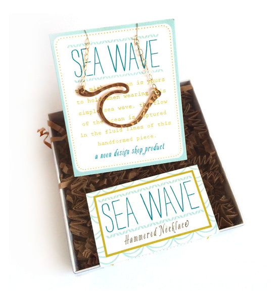necklace . hand-formed sea wave