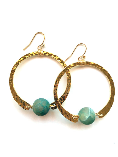 earrings . hammered hoops