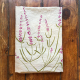 flower sack tea towel . Lavender