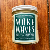 candle . soy wax . salty sea