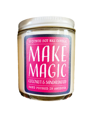 candle . soy wax . coconut + sandalwood