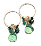 earrings .CLASSIC cluster swarovskis