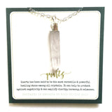 necklace . long quartz crystal