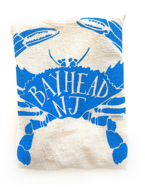 flower sack tea towel . Bay Head Blue Claw©