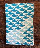 flour sack tea towel . new waves
