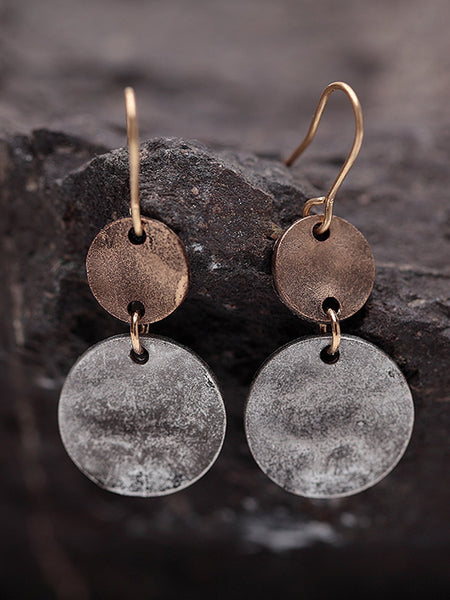 Womens Vintage Alloy Round Earrings