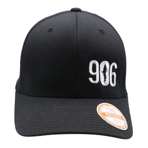 "Hat - ""906"" Black FlexFit Structured Cap"