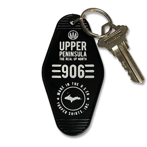 "*KEYCHAIN - ""906"" Black Motel Key Tag"