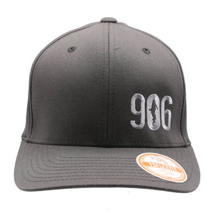 "Hat - ""906"" Dark Grey FlexFit Structured Cap"