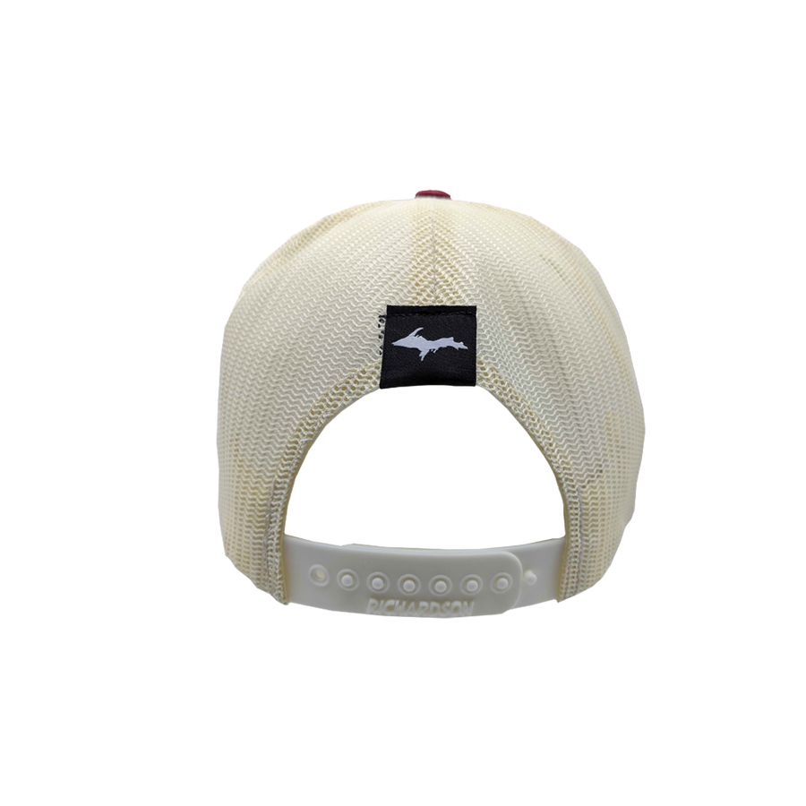 "Hat - ""906"" Heather Grey/Birch/Cardinal Low Profile Trucker Hat"