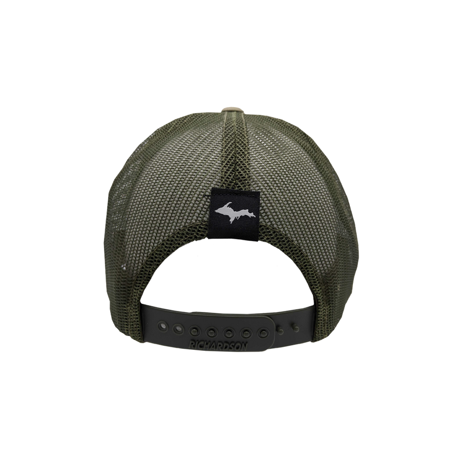 "Hat - ""906"" Light Olive/Loden Low Profile Trucker Hat"