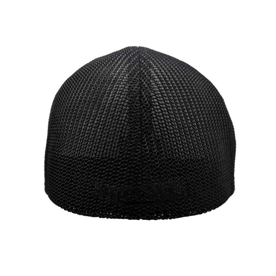 "Hat - ""906"" Dark Heather Grey/Black FlexFit Melange Mesh Cap"
