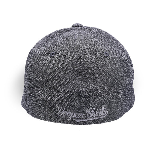 "Hat - ""906"" Dark Heather Grey Flexfit Poly Melange Stretch Cap"