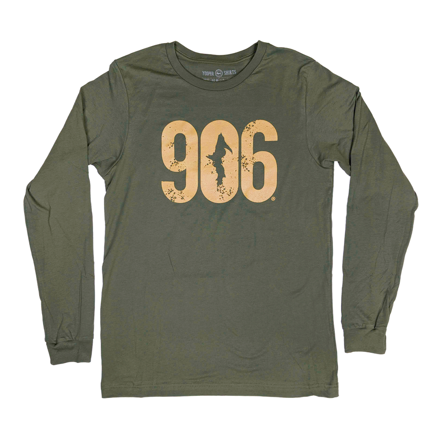 """906"" Military Green Longsleeve T-Shirt"