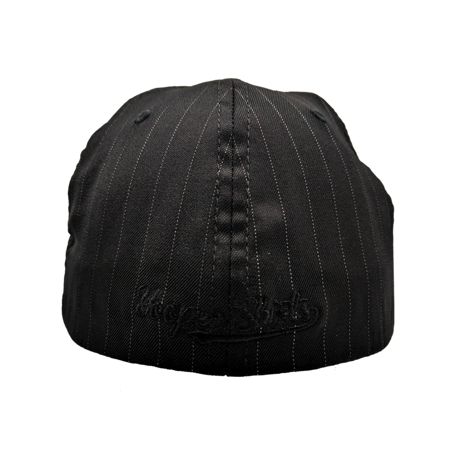 "Hat - ""906"" Black Pinstripe FlexFit Structured Cap"