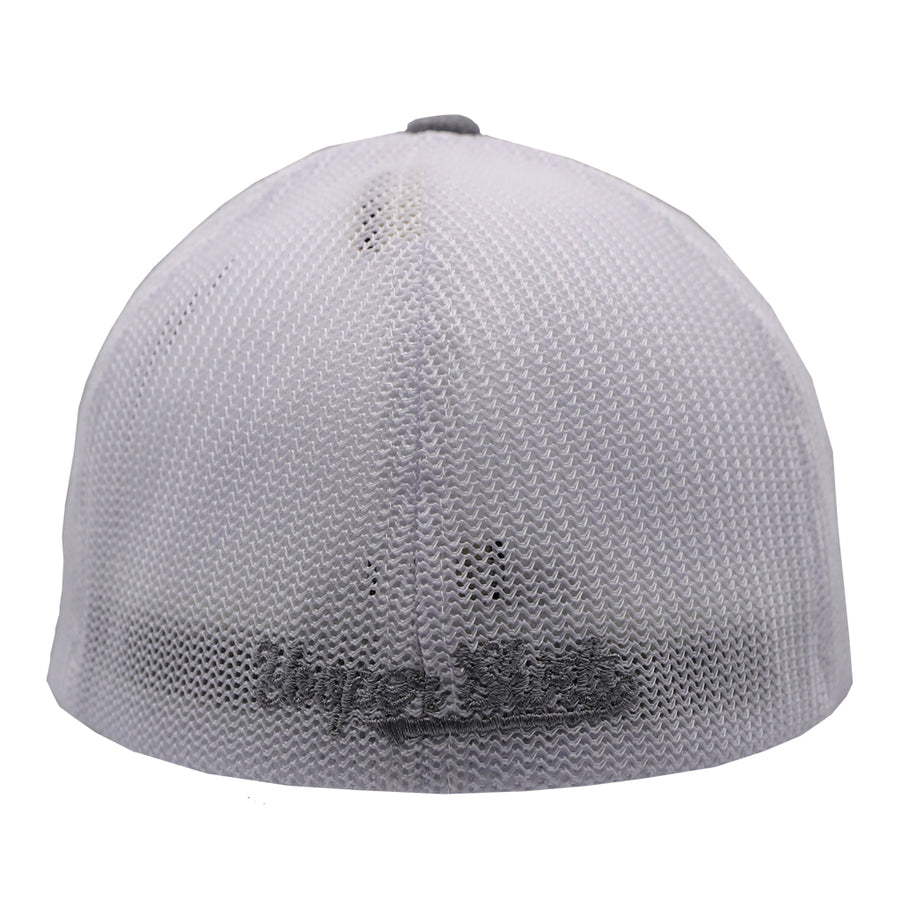 "Hat - ""906"" Heather Grey/White FlexFit Melange Mesh Cap"
