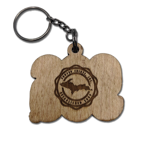 "*WOOD KEYCHAIN - ""906"""