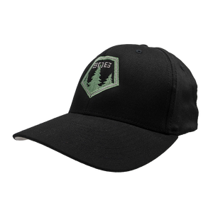 "Hat - ""906 Pines"" Black FlexFit Structured Cap"