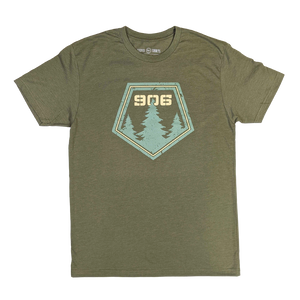 """906 Pines"" Heather Military T-Shirt"