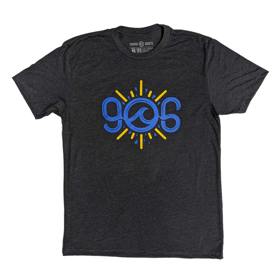 """906 Waves"" Heather Charcoal T-Shirt"
