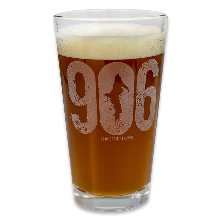 """906"" 16 oz. Pub Glass"