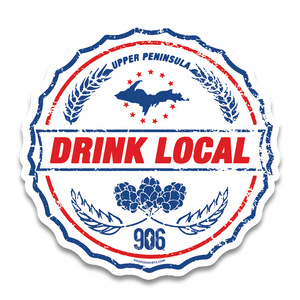 "Sticker - ""DRINK LOCAL"" 4"" Window Decal"