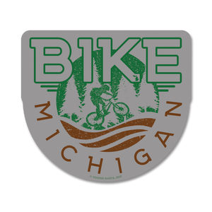 "Sticker - ""BIKE MICHIGAN"" 4"" Grey Window Decal"