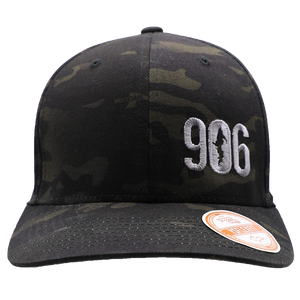 "Hat - ""906"" Multicam Black FlexFit Structured Cap"