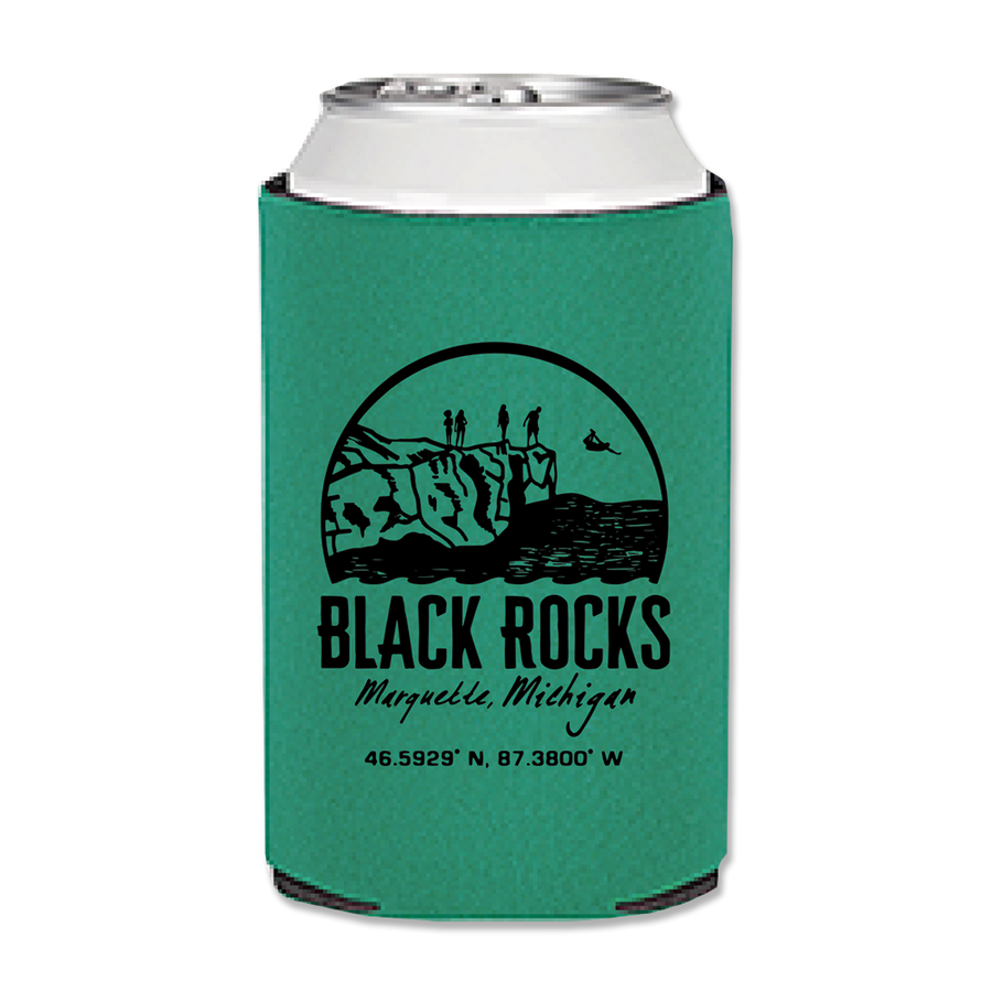 "Can Cozy - ""Black Rocks"" Teal"