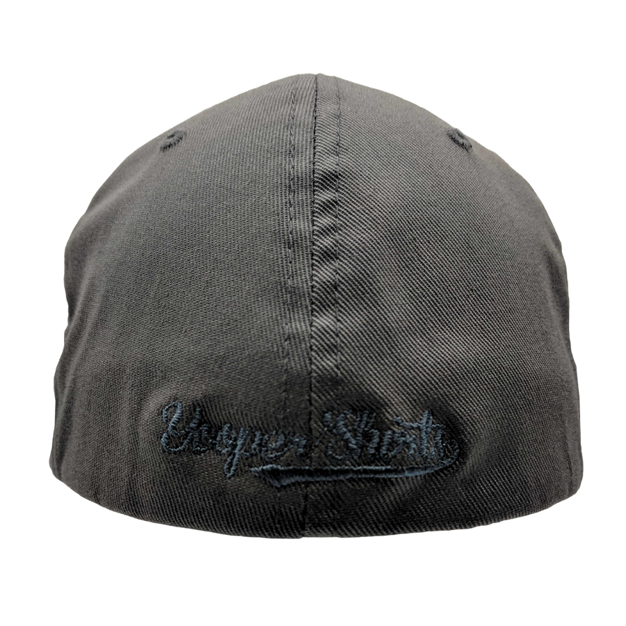 "Hat - ""U.P. Silhouette (Corner)"" Dark Grey FlexFit Structured Cap"