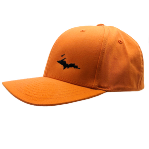 "Hat - ""U.P. Silhouette (Corner)"" Orange FlexFit Structured Cap"
