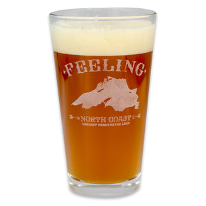 """Feeling Superior"" 16 oz. Pub Glass"