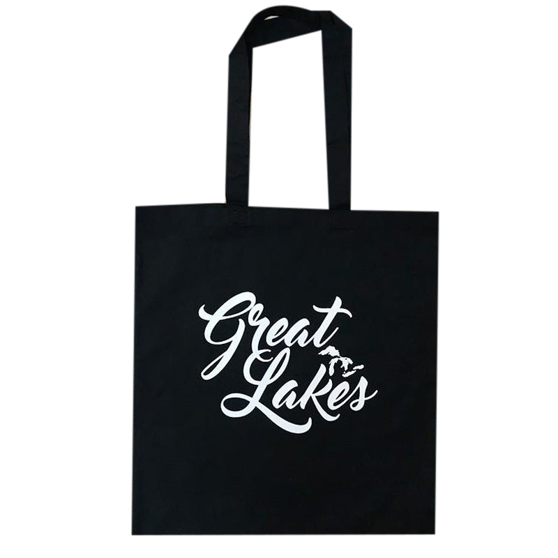 """Great Lakes"" Tote Bag Black"
