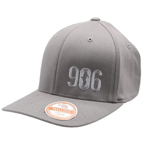 "Hat - ""906"" Grey FlexFit Structured Cap"