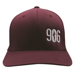 "Hat - ""906"" Maroon FlexFit Structured Cap"