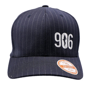 "Hat - ""906"" Navy Pinstripe FlexFit Structured Cap"